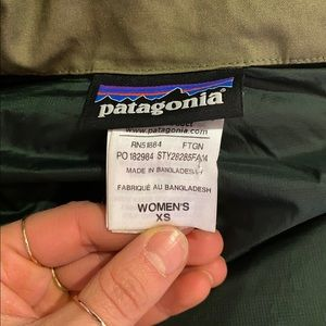 Puffer Patagonia Vest in olive green